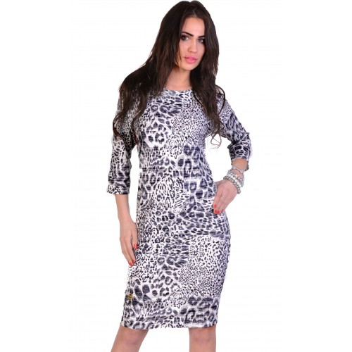 Dzianinowa sukienka tygrys P297