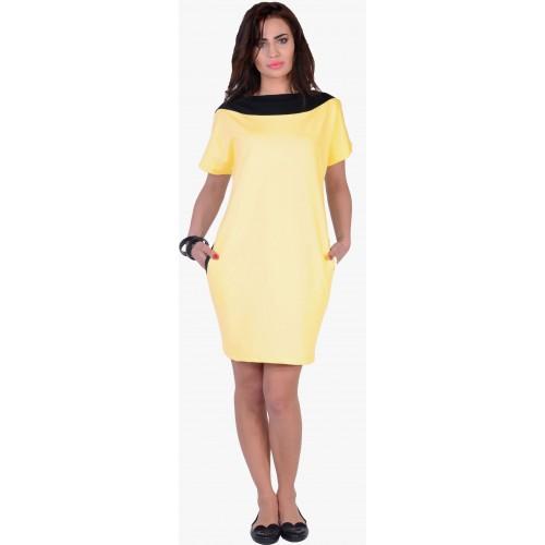 Dresowa sukienka pastelowa kieszeń P299