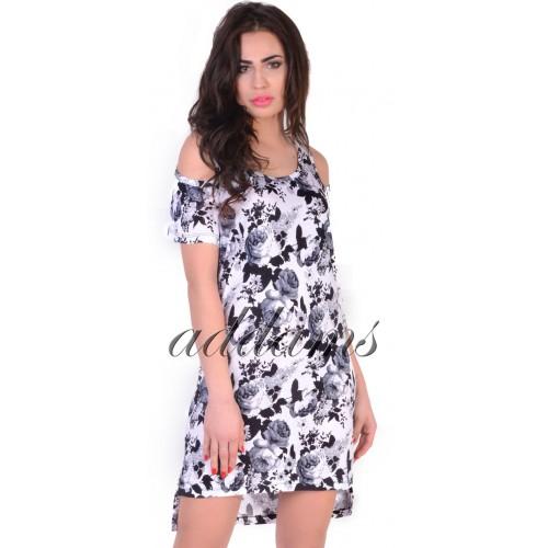 Romantyczna luźna sukienka w kwiaty P806