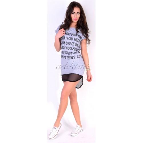 Sportowa sukienka mini z siateczką P811