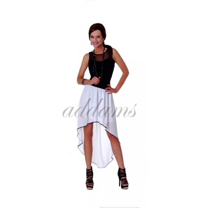 Długa spódnica asymetryczna z lamówką P116