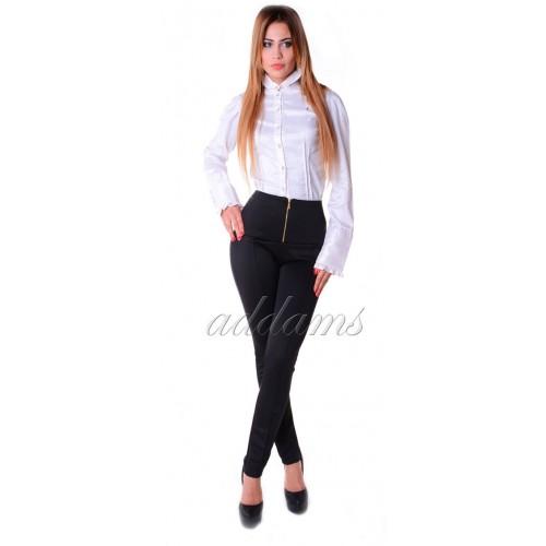 Eleganckie spodnie wyszczuplające z wysokim stanem P304