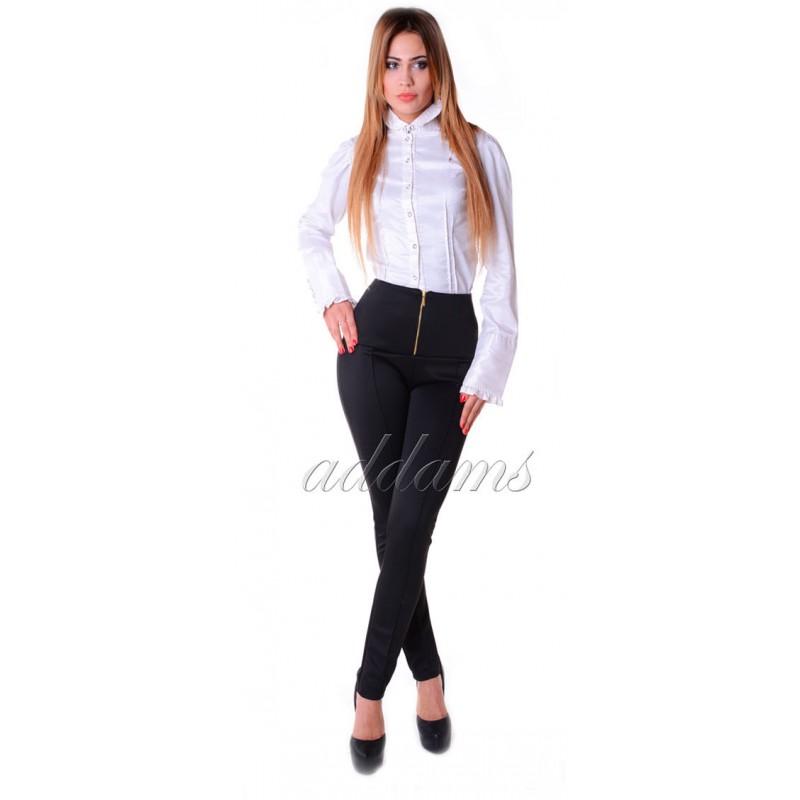 Eleganckie spodnie rurki wysoki pas P304