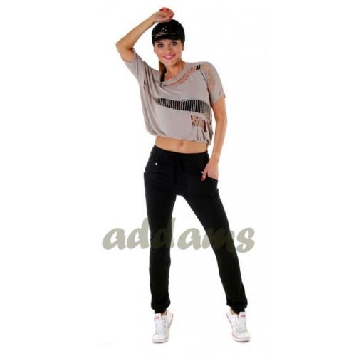 Modne spodnie dresowe baggy luźne P311