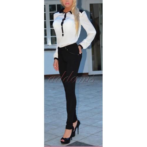 Modne eleganckie wyszczuplające spodnie P333