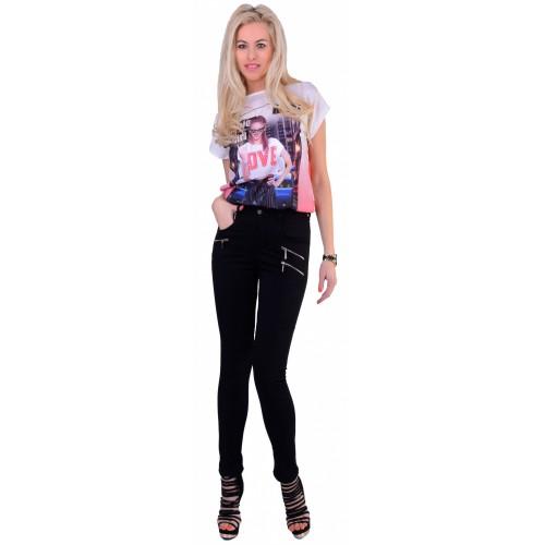 Luxus elastyczne jeansy czarne slim P357