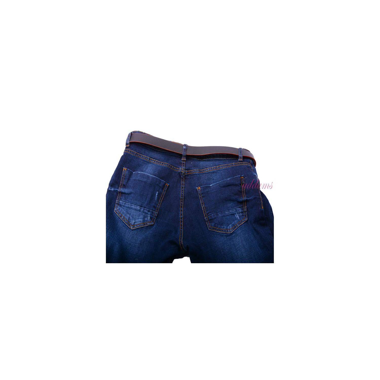Orginalne modne jeansy ze streczem denim P358 duże