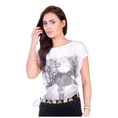 Piękna bluzeczka T-SHIRT pastele P648