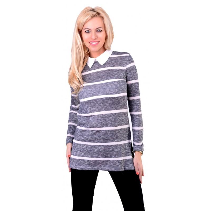 Markowy sweterek kołnierzyk P690