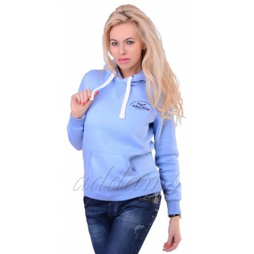 Markowa luxusowa bluza błękitna CREW P720