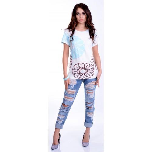 Modna pastelowa bluzka T-SHIRT P690