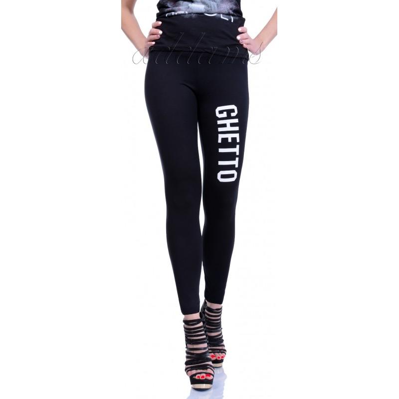 Stylowe legginsy z napisami P411